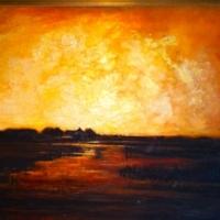 Brilliant large landscape oil painting
